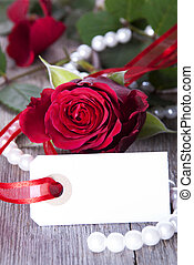 White Label with Red Rose