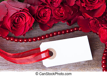 White Label with Red Roses