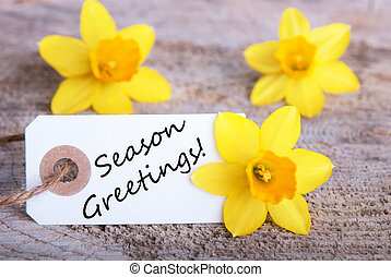 Label with Season Greetings