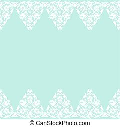 White lace border