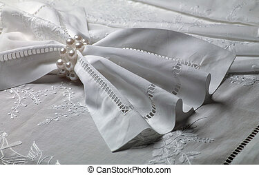 lace - white lace fabric with embroidered patterns
