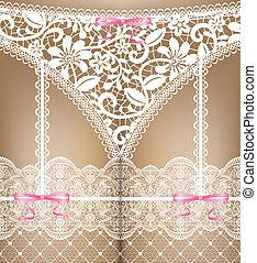 white lace lingerie - Sexual woman white lace lingerie....