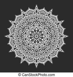 White lace pattern over black background