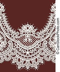 White Lace Vector Seamless Pattern