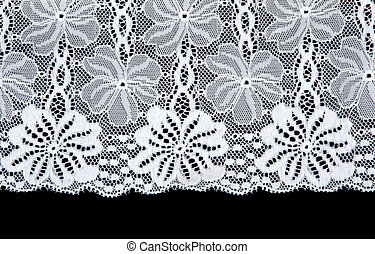 White lace with pattern in form flower
