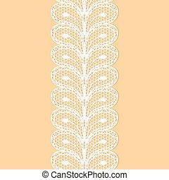 White lacy border