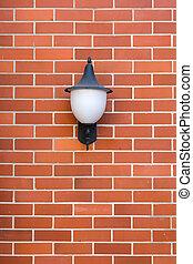 White Lamp Red Brick wall