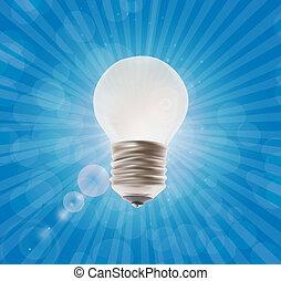 White Lamp. Vector Illustration on the Background.