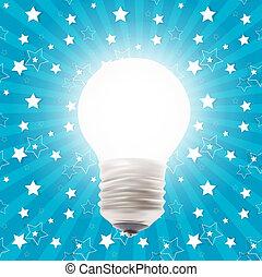 White Lamp. Vector Illustration on the Background