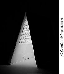 White laptop