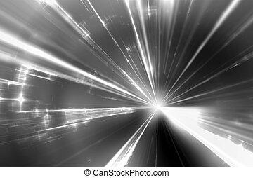 white laser rays