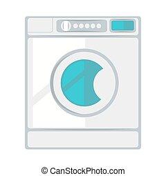 White laundry machine