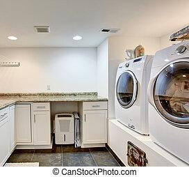White laundry room interior