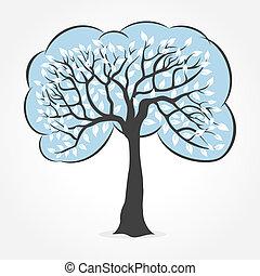 white leaf tree