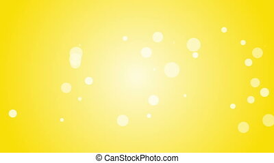 White lens flares on gold background