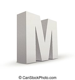 white letter M