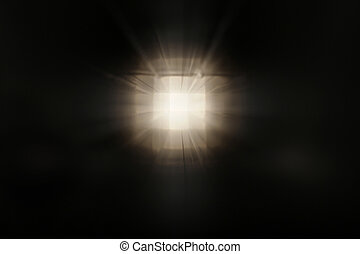 white light at the end of sa dark tunnel - A dark square...