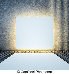 White light box and podium. All textures and maps my own ...