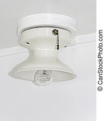 White light fixture antique