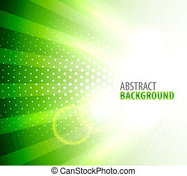 White light on green background