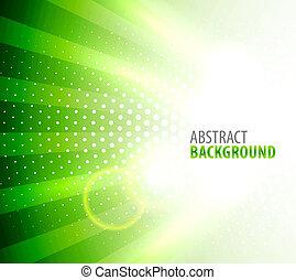 White light on green background