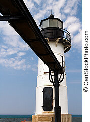 White Lighthouse and Catwalk