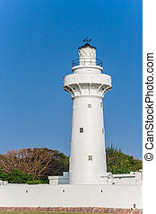 White lighthouse in Kenting National Park, Taiwan