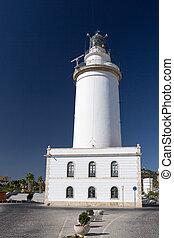White lighthouse in Spain
