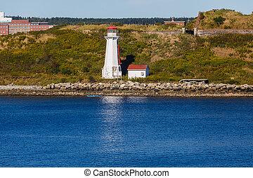 White Lighthouse on Canadian Coast