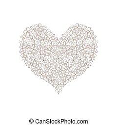 White Lilac or Syringa Vulgaris in A Heart Shape