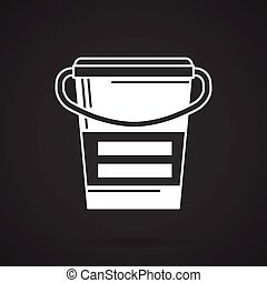 White line icon for meal replacemen - White contour vector...