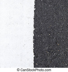 white line on the road