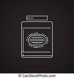 White line vector icon for gainer