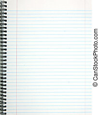 White lined notepad page.