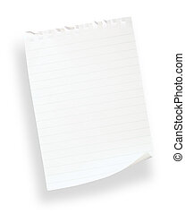 white lined paper(with clipping path)