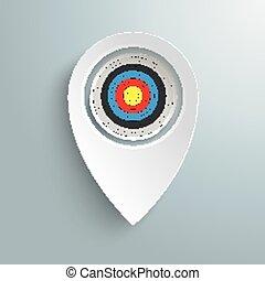 White Location Marker Target
