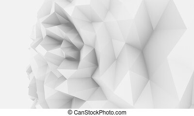 White low poly edgy sphere background for modern reports and...
