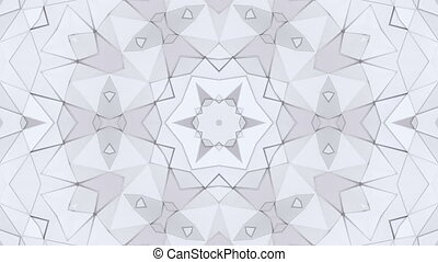 white low poly geometric background in 4k. Loop 3d...