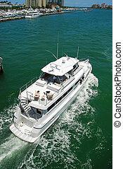 White Luxury Yacht