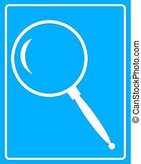 white magnifying glass icon