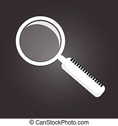 White Magnifying glass sign
