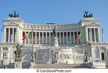 white Majestic Monument Vittoriano
