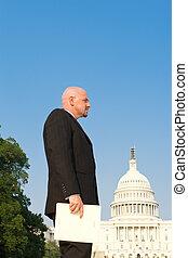 White Man Suit Secret Folder US Capitol Washington