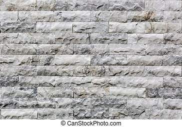 White marble brick wall