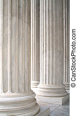 White Marble Columns - The white marble columns of the US...