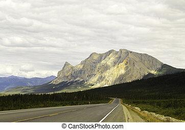 White marble mountain