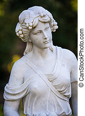 statue - white marble statue of a woman