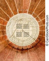 White Marble Sundial