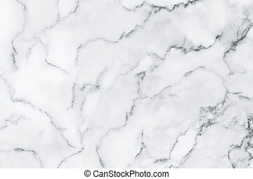 White marble texture with natural pattern for background, design or artwork
