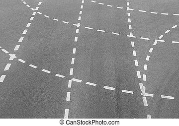 white marking on highway